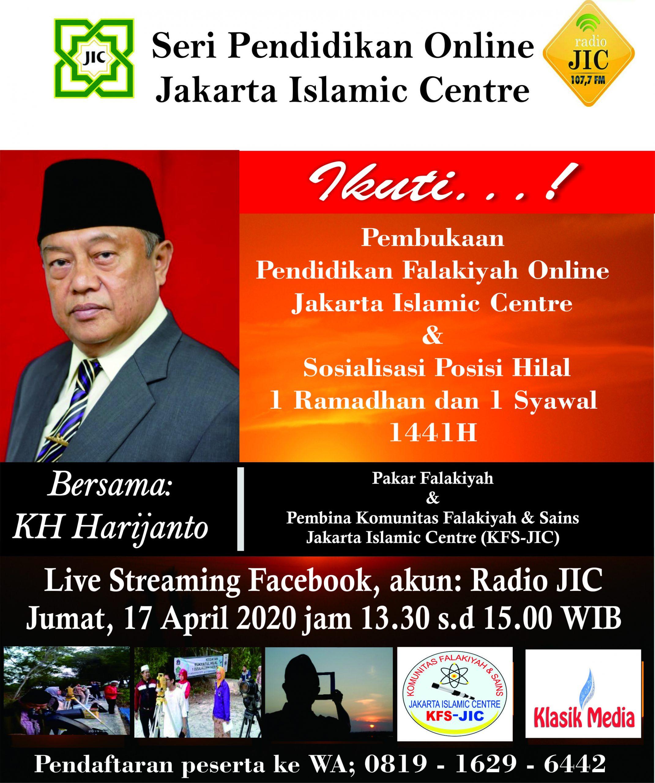 Pendidikan Falakiyah Online JIC Dimulai Besok
